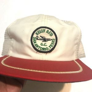 VINTAGE Kelly Air Force Base Trucker Hat Cap